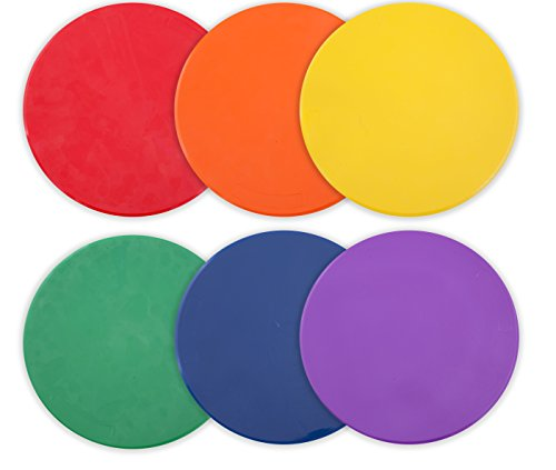 Champion Sports Poly Spot Markers, 10-inch - Set of 6, - Kids Spot