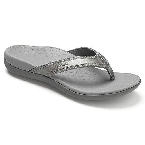 Vionic Women's Tide II Pewter Metallic Sandal