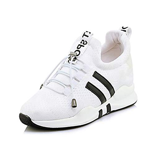 Bout EU42 À Femme Et Pied TTSHOES Basket Rond White Cross Été Nylon CN43 De Hauteur Chaussures Semelle Confort Compensée Printemps Course UK8 Fitness 5 US10 Training 5 Udd8gqw
