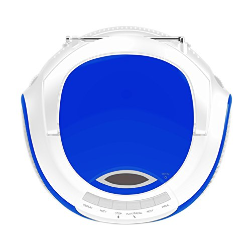 Ematic CD Boom Box with Bluetooth Audio and Speakerphone, Blue by Ematic (Image #3)