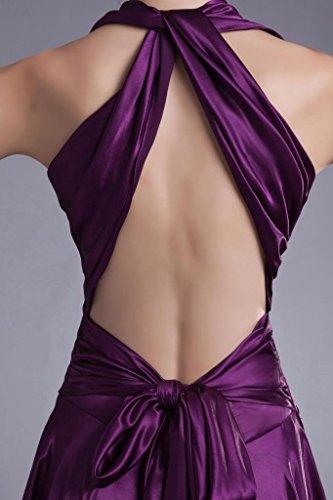 Abendkleid traegerlosen Elegante Lange BRIDE Lila Abendkleid GEORGE Rueckenfrei Satin Pw0vqTxU