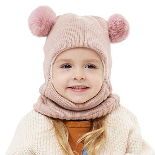 Baby Girls Boys Winter Hat Scarf Earflap Hood Scarves Skull Caps