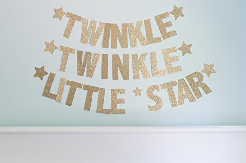 Baby Shower Decoration, Twinkle Twinkle Little Star Medium Self-Assembly Banner T002 (Medium Assembly)