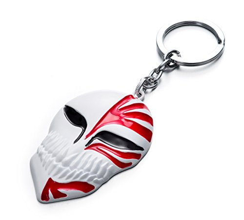 REINDEAR Japanese Anime Bleach Ichigo's Kamen Hollow Mask Metal Pendant Keychain US Seller