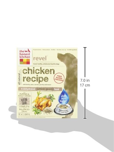 183413004497 - The Honest Kitchen Revel Organic Whole Grain Dog Food - Natural Human Grade Dehydrated Dog Food, Chicken, 2 lbs (Makes 8 lbs) carousel main 6