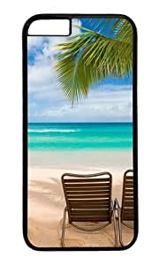 iPhone 6 Case,VUTTOO Stylish Maui Beach Hawaii Palm Tree Hard Case For Apple iPhone 6 (4.7 Inch) - PC Black