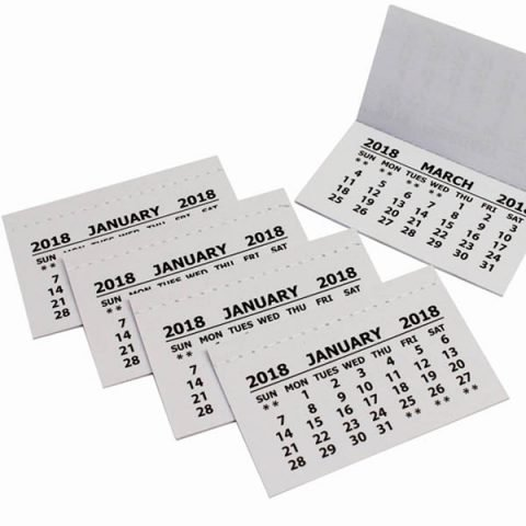 2018 Calendar Tabs Insert Tabs White Mini Calender Tear Off Pads Month To View Craft (50) Bright Ideas