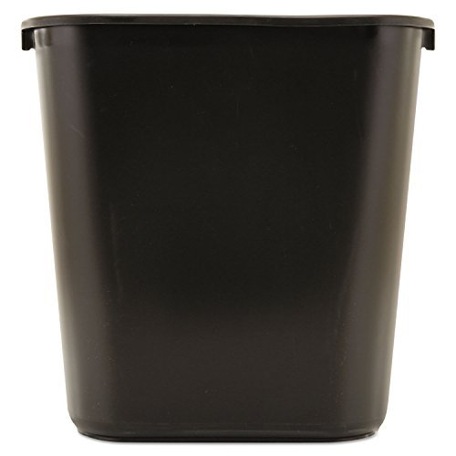 Wastebaskets Standard (Rubbermaid Standard Series Medium Wastebasket, Black)