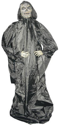 Floating Grim Reaper Monster - Sound or Remote Activated - Halloween Decoration - 5 Feet Tall - Sunstar Industries - Model 86044