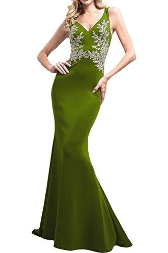 La Ausschnitt Applikation Braut mit Lang Abiballkleider Meerjungfrau mia Promkleider Gruen Spitze Abendkleider Flieder Olive Ballkleider V rwrIFRqHC