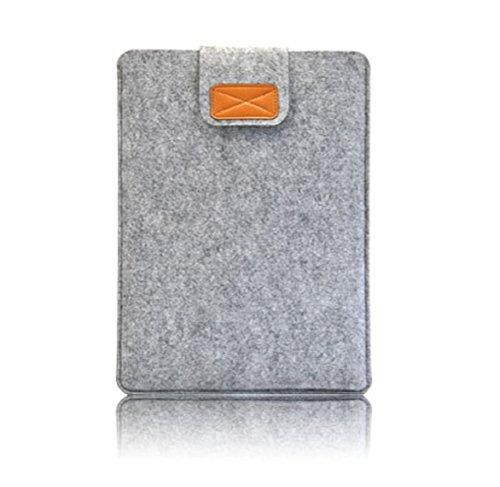 Nasis unisex felt protective cover bag for ipad air and tablet PC sleeve AL3022 (lightgrey, Retina 13.3)