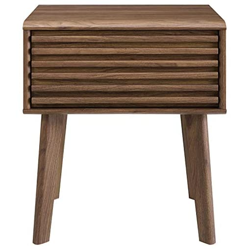 Bedroom Modway Render Mid-Century Modern End Table or Nightstand in Walnut modern bedroom furniture
