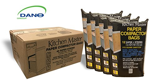 Kitchen Master Paper/Plastic lined Pre-Cuffed Compactor Bags -48 Pack