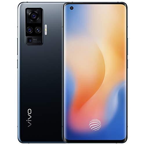 Original X50 Pro(V I V O) 5G Mobile 8G+128GB 60X Zoom 48MP Mainly Camera AMOLED 90HZ NFC Snapdragon 765G 33W Fast Charge 4315mAh Smartphone Support Google by-(Real Star Technology) (Black 8+128)