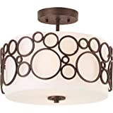 Progress Lighting P3741-74 Two-Light Semi-Flush Mount