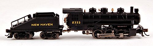 Bachmann Industries #2333 USRA 0-6-0 Switcher Locomotive and Tender New Haven Train Car, N Scale (Electrical Train compare prices)