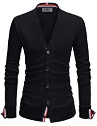 NEARKIN City Casual Mens Knitwear Casual Shawl Collar Cardigan Sweaters