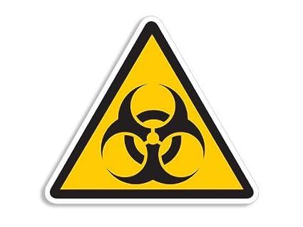 amazon com american vinyl triangle biohazard logo caution sign rh amazon com caution logo images caution logo images