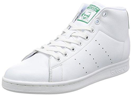 adidas Stan Smith Mid, Sneaker a Collo Alto Uomo Bianco (Blanco/(Ftwbla/Ftwbla/Verde) 000)