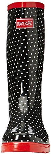 Regatta Lady Fairweather - Botas de lluvia para mujer Negro (Black/Lollip 06P)