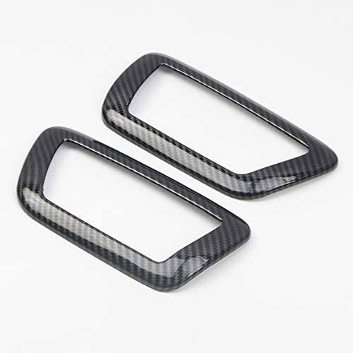 ABS Carbon Inner Front Door Handle Bowl Frame Cover For Toyota Tacoma 2016-2019