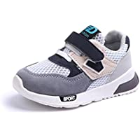 Sunbona Children Baby Boys Girls Letter Mesh Light Weight Breathable Sports Running Kids Casual Sneakers Shoes