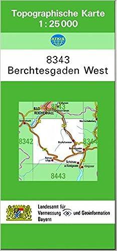 Topographische Karten Bayern Bl 8343 Berchtesgaden West
