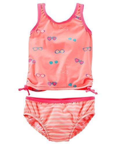 OshKosh Little Girls ''Sunglasses'' Printed 2-Piece Tankini Swimsuit (2t)