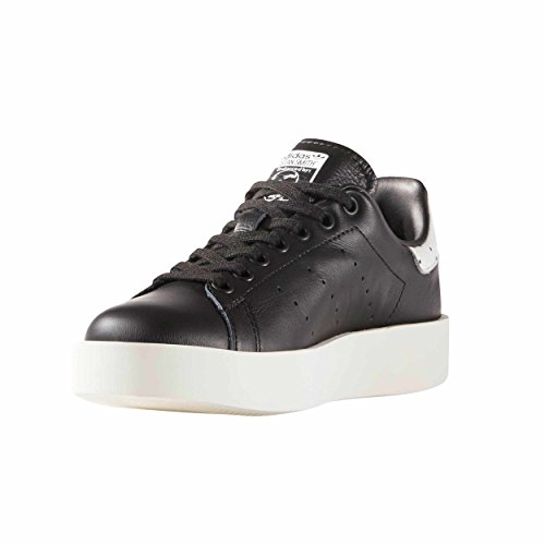 Adidas Originals Women's Stan Smith Bold zapatillas negras Plataforma cuero para Mujer zake (37 1/3 EU - 4.5UK, Black)