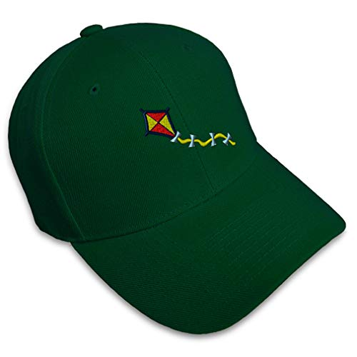 Speedy Pros Baseball Cap Kite Embroidery Acrylic Dad Hats for Men & Women Strap Closure Forest Green Design Only