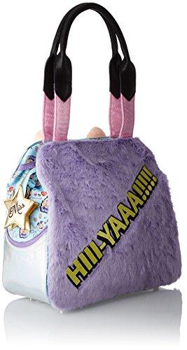 Irregular Choice Hiii-yaaa Bag - Borse a spalla Donna, Multicolour (Lilac Multi), 15x34x34 cm (W x H L)