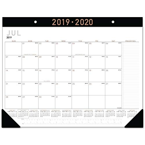 AT-A-GLANCE 2019-2020 Academic Year Desk Pad Calendar, Standard, 21-3/4