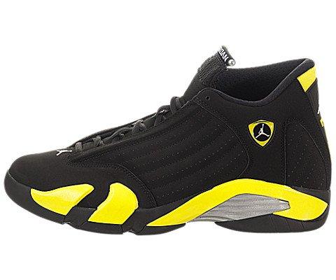 Nike-Jordan-Mens-Air-Jordan-14-Retro-BlackVibrant-YellowWhite-Basketball-Shoe-85-Men-US