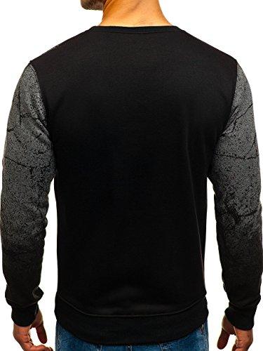 Sweatshirt Manches dd259 Longues neck Gris U Imprimé Style Capuche 1a1 Pull Homme Sportif Foncé Bolf Sans Aw5pxaHq