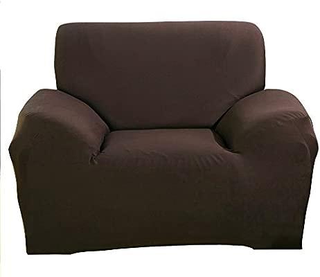 Funda elástica de tela para sofás, de ParaCity, café, 1 seater:90-140cm