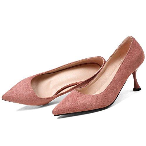 Slip KingRover on Pink Cut Kitten Elegant Shoes Office Heels Toe Women's Low Pumps shoes Pointed rrxqBHvw6P