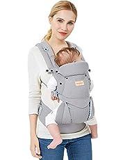 Babydragers Ergonomische Draagzak Baby Zuiver katoen Lichtgewicht en Ademend Verstelbaar Voor Baby's en Kinderen van van 0-3 jaar (3,5-20 kg)