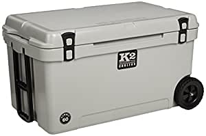 K2 Coolers Summit 60 Cooler with Wheels, Gray
