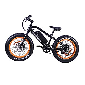 410kfcZ5dHL. SS300 cuzona Mountain Bike Elettrico Fat Tire Bicicletta elettrica Beach Cruiser Booster Bike 500W E-Bike 36V 10 4AH Batteria…