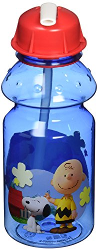 Zak Designs Charlie Brown and the Peanuts Tritan Plastic Water Bottle 14 Oz (Snoopy Bottle)