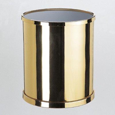 Windisch 89102-PN-637509881832 Bath Bins Collection Contemporary Brass Bathroom Waste Basket, Polished Nickel
