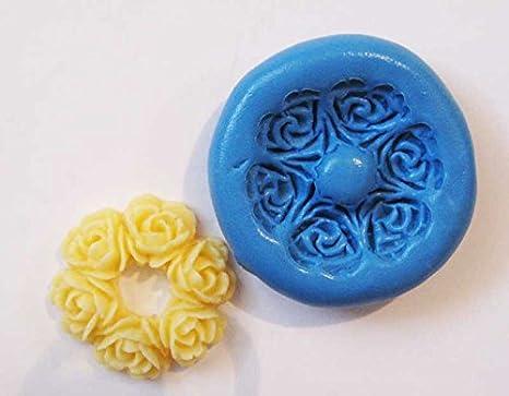 Flores Cameo con molde de silicona flexible de calidad alimentaria para arcilla polimérica, resina, cera, comida en miniatura, dulces, yeso: Amazon.es: ...