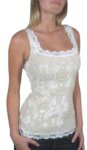 Arianne Women's Victoria Camisole Corset, Linen, Medium