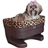 Pet Gear Booster Seat for Dogs/Cats, Removable Washable Comfort Pillow + Liner, Safety Tethers Included, Installs in Seconds, No Tools Required, Chocolate/Jaguar, 20
