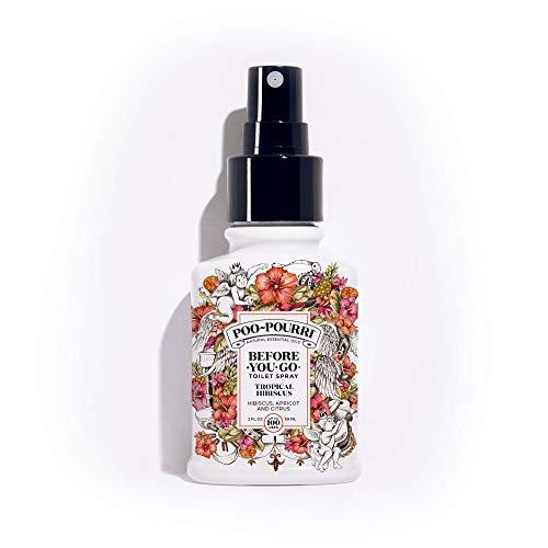 PooPourri BeforeYouGo Toilet Spray 2 oz Bottle, Tropical Hibiscus Scent ()