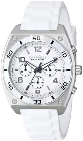 026a9a27084 Caravelle New York by Bulova Men s 43A126 Analog Display Japanese Quartz  White Watch