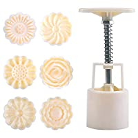 Moon Cake Mold Handmade pastry mold dessert made DIY Tool Round cookie mold Hand pressure 50g moon cake production 6 pieces of pattern