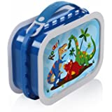 Yubo Deluxe Lunchbox with Dinosaurs design, Blue