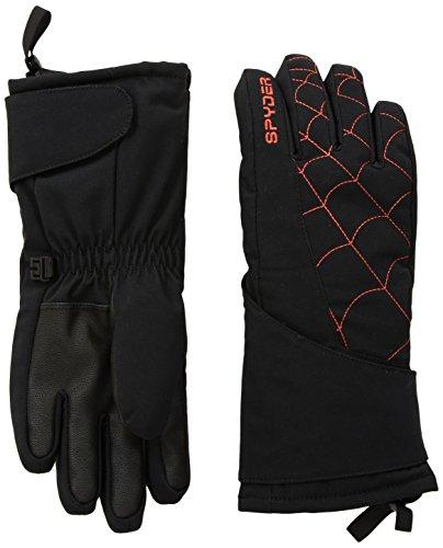 Spyder Kids Glove - Spyder Boy's Mini Overweb Ski Glove, Black/Burst, Small