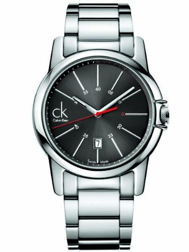 Calvin Klein Quartz Swiss Date Stainless Steel Black Dial Men's Watch K0A21561